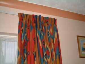 Curtains on a track or rail