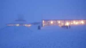 It was snowy at North Cape