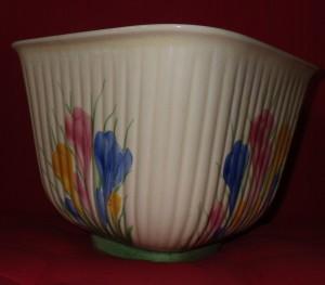 A Crocus pattern pot