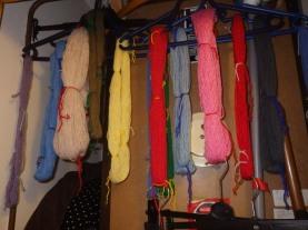 Revitalising frogged yarn