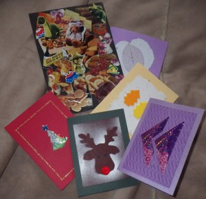 A few of my homemade cards... made with this and that!