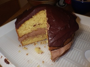 Chocolate orange 1-2-3-4 cake