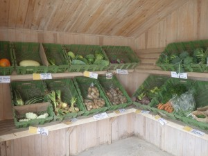 All produce comes from the farm