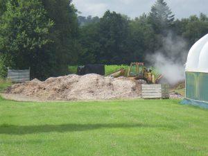 Material awaiting composting