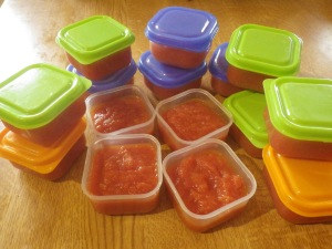 Just the right size for individual portions (these were sold as baby food containers)