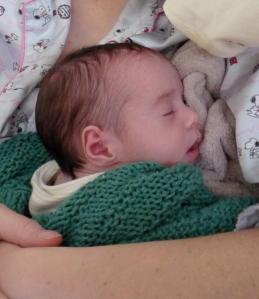 Sissie snuggling in her blankie