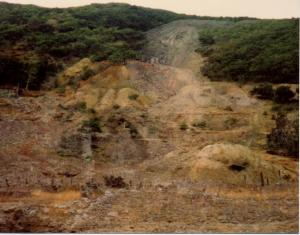 The spoil heaps at Cwm Rheidol in 1982