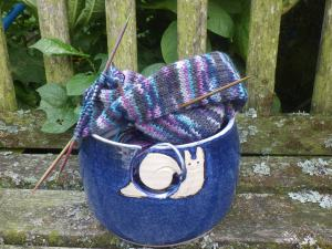 The happy snail yarn bowl