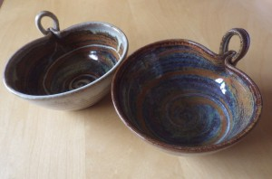 Hand-thrown soup bowls (by my friend Joe Finch) just waiting to be filled with homemade soup