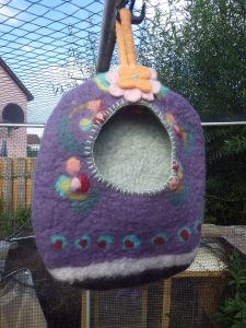 The original felted peg bag