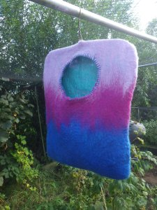 The new felted peg bag
