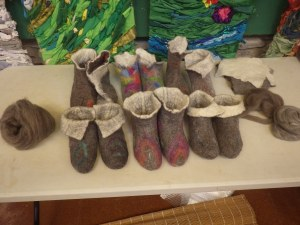 Lovely slippers - mine ore front left