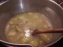 Making apple cider butter