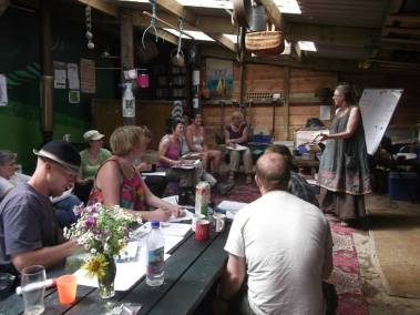 Me teaching permaculture at Karuna