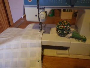 Sewing the main pieces together