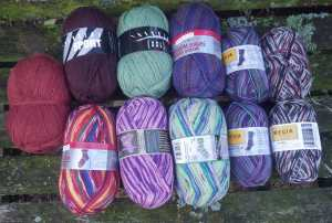 My current sock yarn stash