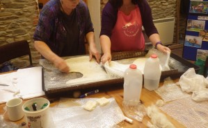Cooperation on a felt-making course
