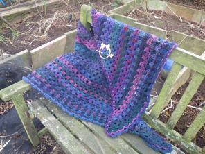 With my beautiful shawl pin