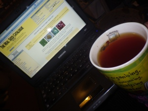 Tea and seed-shopping - a lovely combination on a winter's evening