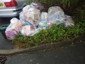 The pile of waste outside just one house after Christmas