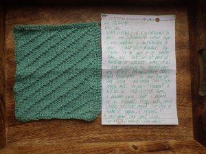 Linda's seed stitch square