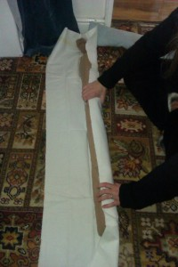 Rolling the core in tough cotton fabric