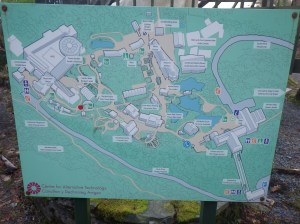 A map of the site