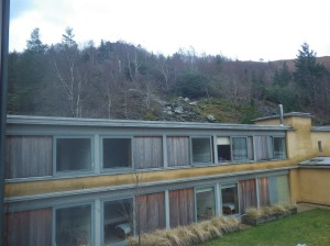 The accommodation was built using sustainable materials