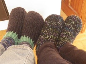 Our slippers!
