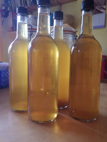 Apple scrap vinegar