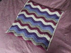 Cushion cover front: New Lanark Aran wool
