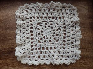 Just because it's a dishcloth doesn't mean it can't be lovely (no pattern for this, I just made it up)