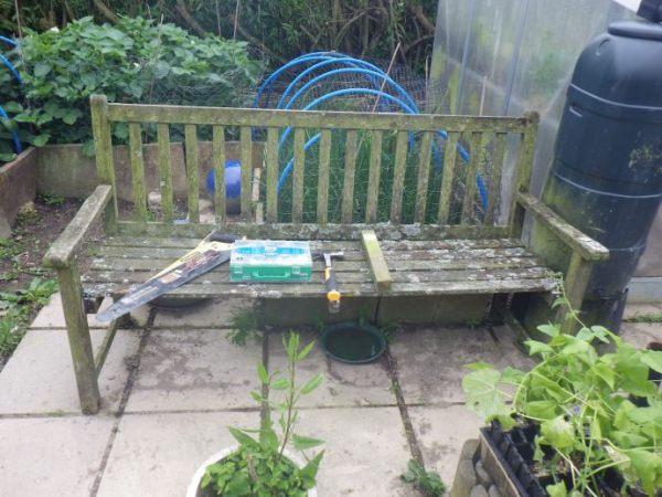 Our old, slightly dangerous Garden Bench