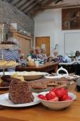 Sharing skills and food