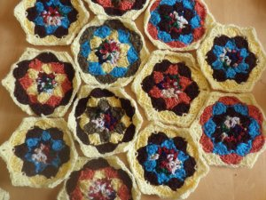 Katy's hexagons... there's 46 of them
