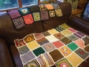 Two blankets taking shape