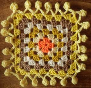 Test on a spare granny square