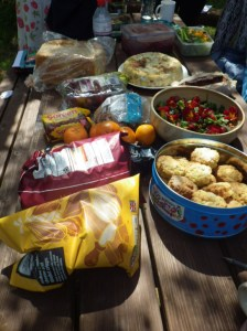 Food to share in the sunshine