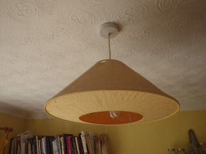 I do like paper lampshades, but this one only lasted 14 years!