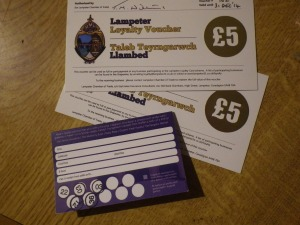 Loyalty card and vouchers