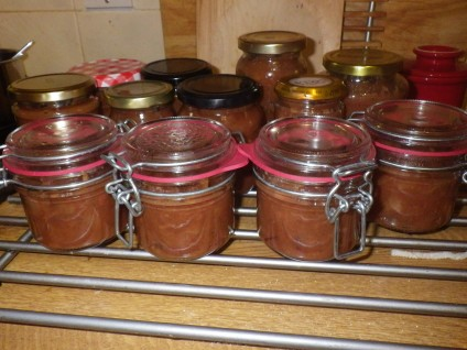 Lots of jars of chutney... I wonder what it will taste like!