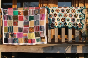 Blankets C (left) and B (right)