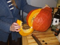 Carving the squash