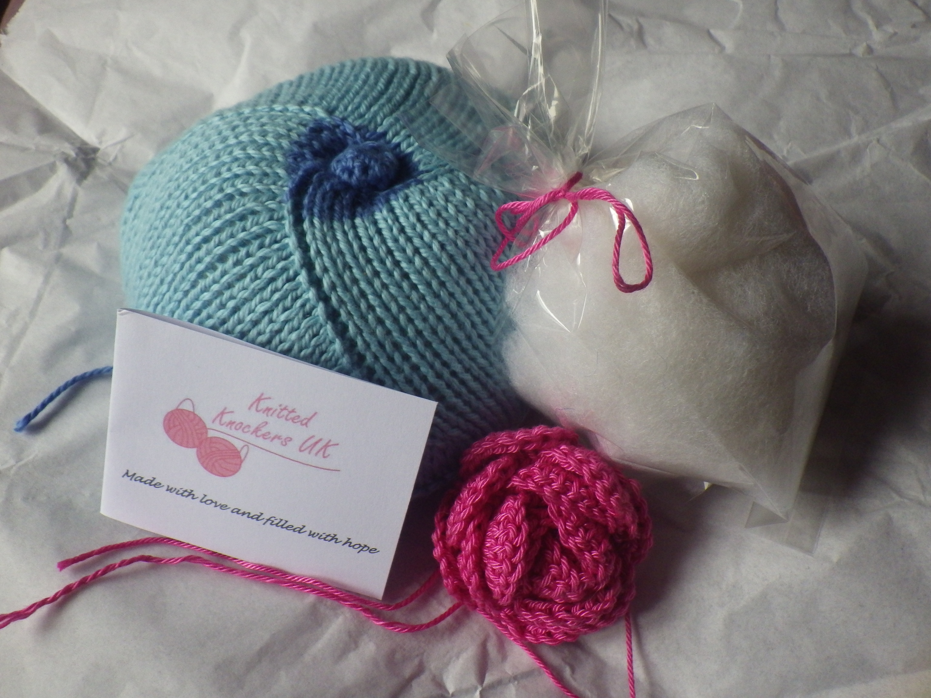Knitted knockers the snail of happiness a knocker ready to go with extra stuffing and a little gift of ccuart Images