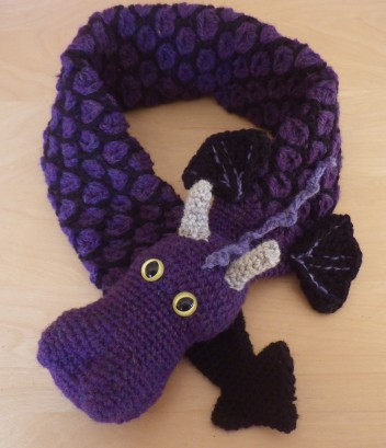 Blueberry dragon neckwarmer