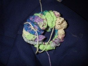 Progress on the current scrunchie