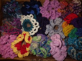 A bouquet of scrunchies