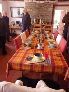 A lovely table awaited us