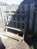 Ladder allotment in it's new place... awaiting plants