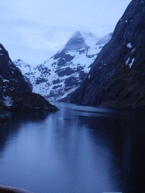 The Troll Fjord at night